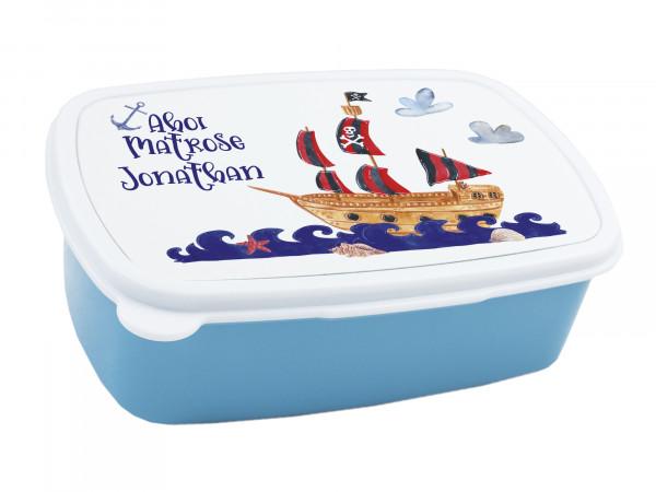 Brotdose Ahoi Matrose für Kinder Jungen, personalisiert mit Namen