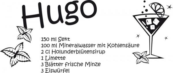 Wandtattoo für Küche Rezept für Hugo Minze Cocktail