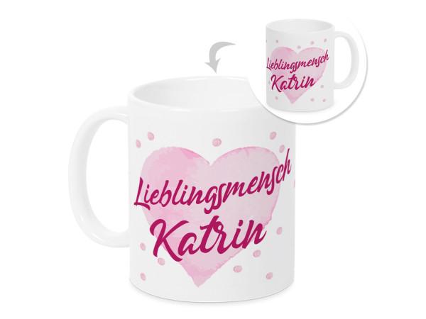 Lieblingsmensch Tasse mit Namen ♡ romantisches Valentinstag Geschenk