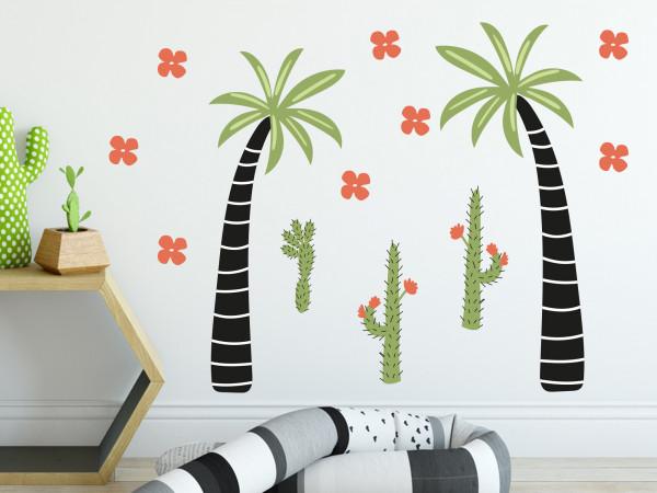Wandtattoo Dschungel Palme Afrika für Kinderzimmer