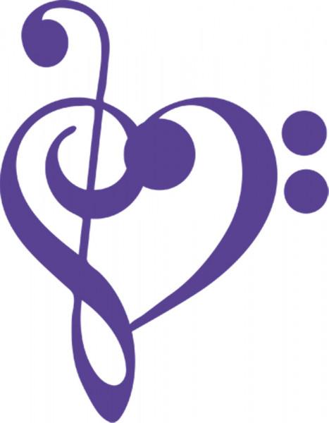 Wandtattoo Musik-Noten-Herz für Ihr Wohnzimmer
