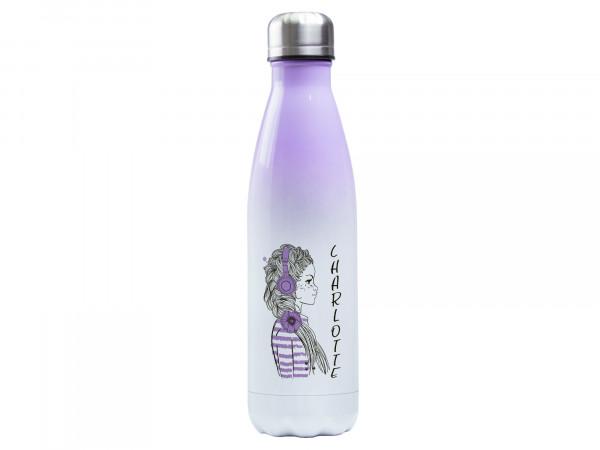 Thermosflasche lila ♥ personalisiert - Girlie Mädchen