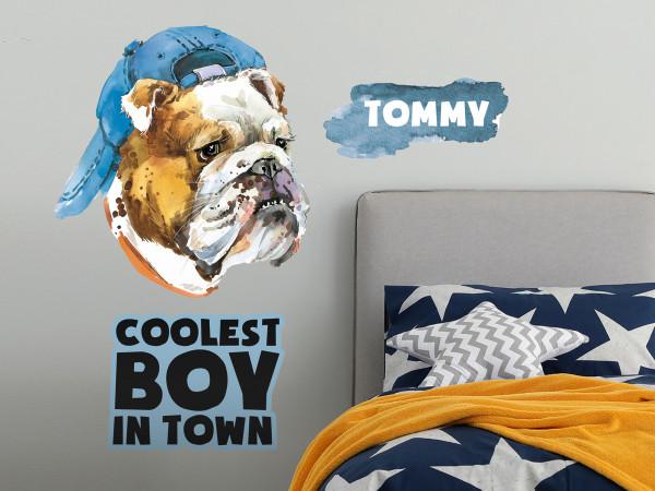 Wandtattoo Bulldog - Coolest boy in town