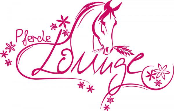 Wandtattoo für Mädchenzimmer Spruch Pferdelounge Pferdekopf