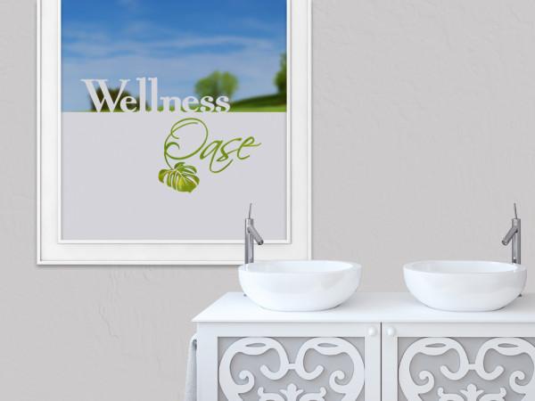 Sichtschutzfolie Wellness Oase Blatt Spa