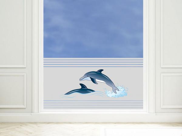 Sichtschutzfolie farbig Delfine springen