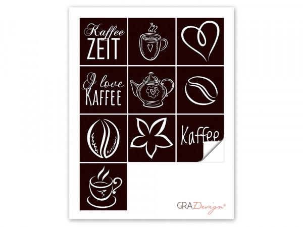 Fliesenaufkleber für Küchenfliesen Kaffee-Zeit Motiv