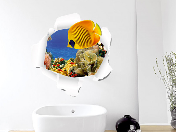 Wandsticker Wandtattoo Wandaufkleber Wohnzimmer Badezimmer Tapete Fische