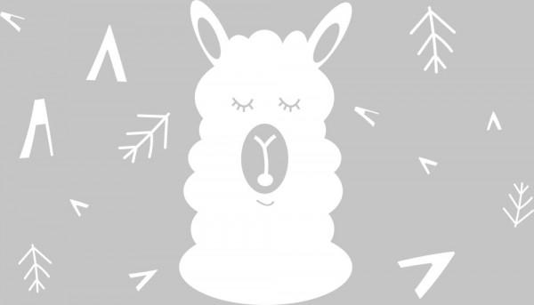 Wandtattoo Lama