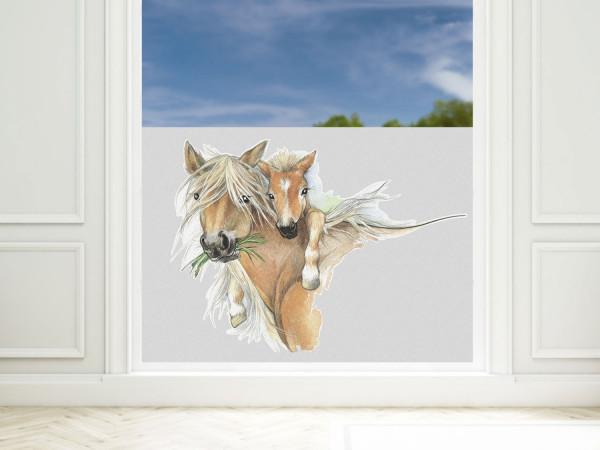 Sichtschutzfolie Kinderzimmer Pferd, Fensterfolie Blickdicht