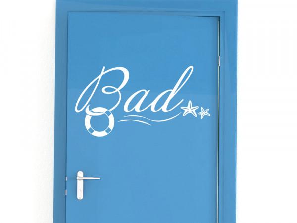 Türaufkleber für Bad/ Beschriftung für Tür