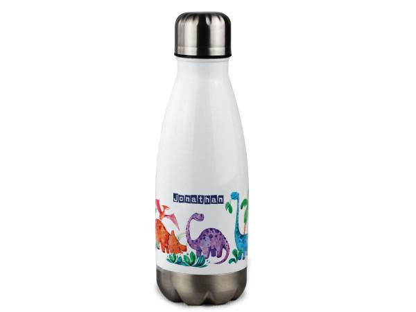 Trinkflasche personalisiert mit Namen Dinosaurier