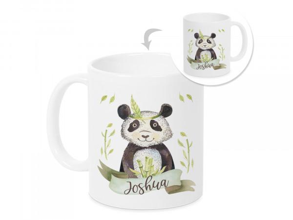 Tasse Panda Bär mit Namen