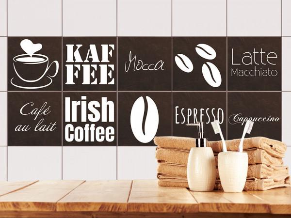 Fliesenaufkleber für Küchenfliesen Kaffee Motiv