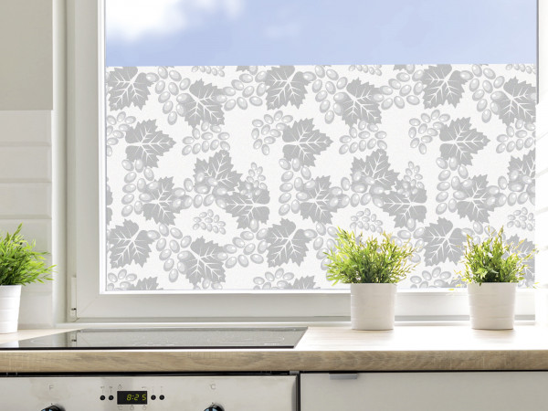 Sichtschutzfolie Küche, Weintrauben Muster