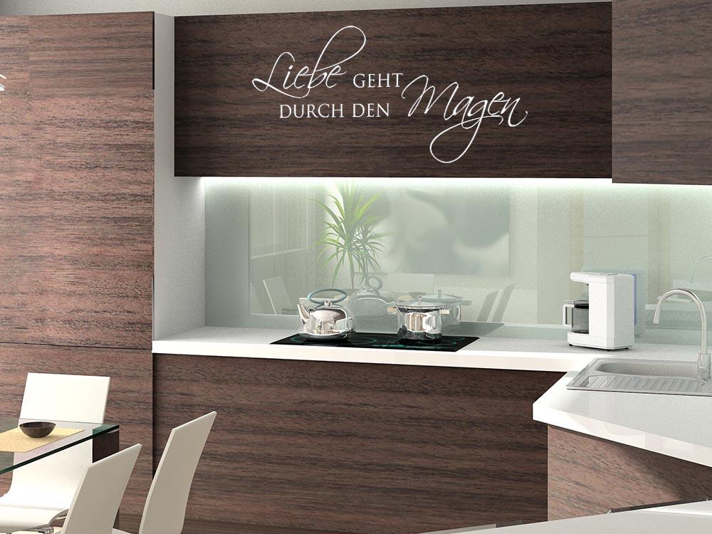 Wandtattoo wandspruch liebe geht durch den magen k chenspr che k che wandtattoo graz design - Wandspruche wohnzimmer ...