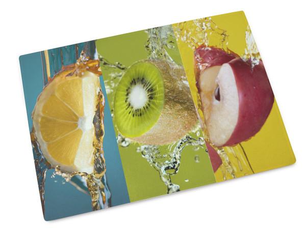 Frühstücksbrettchen als Geschenk, Motiv Obst mit Bunt