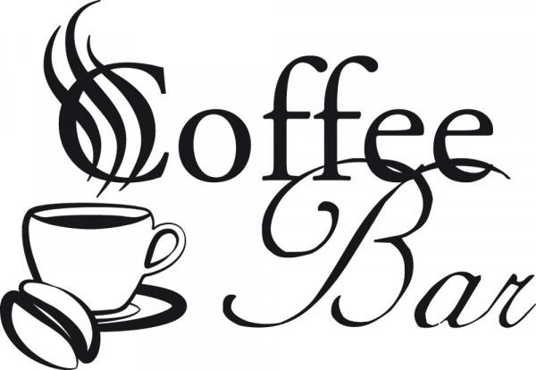 Wandtattoo Küche Coffee Bar Schriftzug