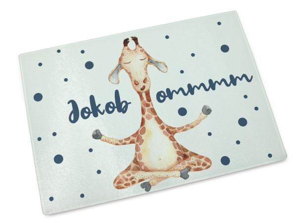 Glas Schneidebrett mit Namen Giraffe