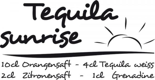 Wandtattoo Cocktail Rezept Tequila Sunrise für Ihre Küche