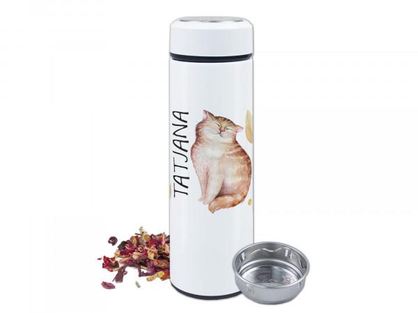 Teeflasche Katze mit Namen