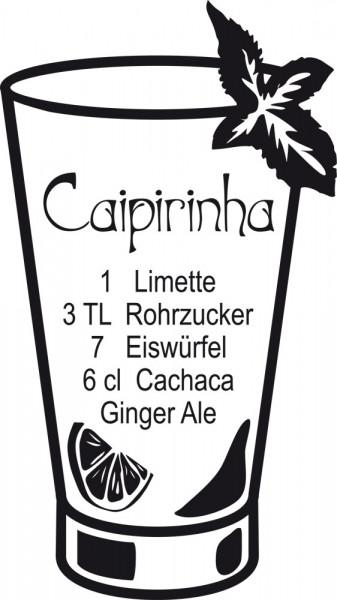 Wandtattoo Küche Caipirinha Rezept mit Glas