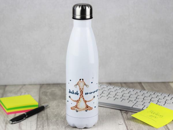 Isolierte Trinkflasche Lustige Giraffe