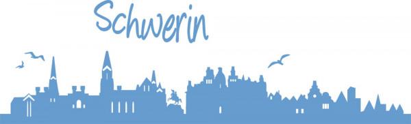 Wandtattoo Schwerin Skyline Stadt neues Design