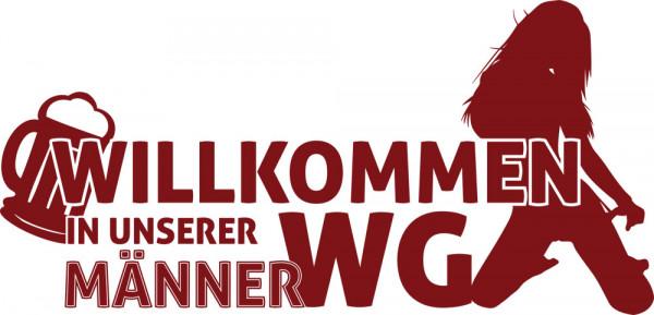 Wandtattoo Wandaufkleber Wand Deko Willkommen Flur Männer WG Frau Bier