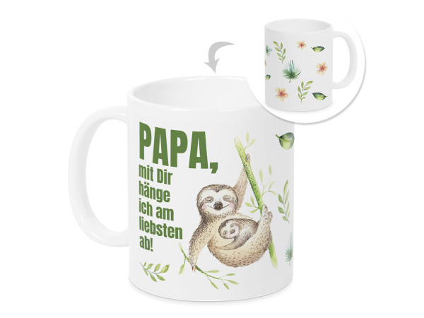 Tasse Papa mit dir hänge ich am liebsten ab- Kaffeebecher